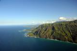 Looking east along the north shore of Kauai