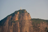 The statue of Christ the Redeemer on top of Corcovado mountain overlooking Rio de Janeiro