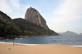 Praia Vermelha, the beach on the south side of Sugarloaf Mountain