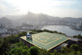 Helicopter tours of Rio and Corcovado depart from the Morro da Urca helipad
