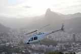 Helicopter at Morro da Urca (PT-HGB)