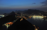 Night view from Sugarloaf to the west, Rio de Janeiro