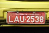 Brazil License Plate - Rio de Janeiro