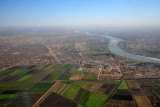 Farmland, North Khartoum, with the Blue Nile