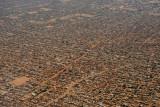 Vast expanse of low mudbrick houses extending NE from Khartoum