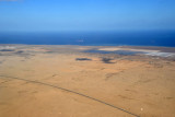Red Sea coast on approach to Port Sudan Airport