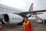 Boarding TAM for our next flight destined for Rio de Janeirao