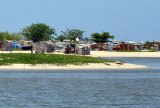 Shanties built on the southern lagoon, Luanda