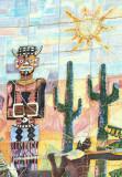 Tile mural with cactus, Luanda