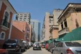A mix of old and new - Rua Cerveira Pereira, downtown Luanda