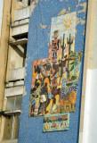 Tile mural on the corner of Av. 4 de Fev. & Rua Luis Mota Feo