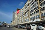 Driving northeast along Av. 4 de Fevereiro, Luanda
