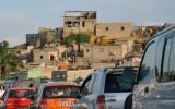 Stuck in traffic, a common occurrence in Luanda