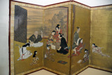 Painted screen in the Hikone Castle Musuem