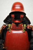 This red armor was owned by Ii Naomasa, one of the four guardian warlords of Tokugawa Ieyasu