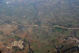 Descending towards Hyderabad, India