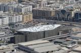 Dubai Metro station under construction Salahuddin Road near Ramada Continental