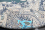 Flying over the top of Burj Khalifa