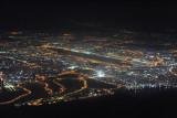 Dubai International Airport at night