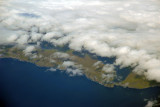 Vagar Airport under clouds, Farøe Islands
