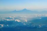 Mt Ararat, distant Armenian view