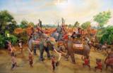 Pho Khun Ram Kham Haeng in the elephant battle with Khun Sam Chon, 1257 AD