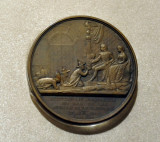 French commemorative medal of the audience of the Siamese Ambassador of Kign Mongkut to King Napoleon III in 1861