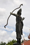 Rama, the 7th Avatar of the god Vishnu, holding a bow