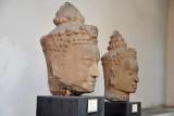 Heads of khmer door-guardians, Bayon style, 12th C., Wat Sak, Lopburi