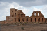 The largest structure at Sabratha, the partially reconstructed Roman Theater