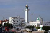 Main street of Al Khoms - mosque