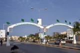 Gateway across the main street of Al Khoms