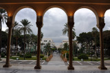 Looking out from the front door of the Museum of Libya