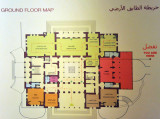 Ground floor map of the Museum of Libya