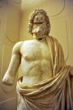 Statue of Asclepius, god of medicine and healing