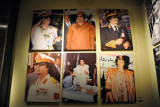 Various portraits of Qadhafi that were on display in the Gallery of the Revolution in December 2010