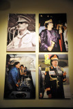 Photographs of Qadhafi displayed in the Gallery of the Revolution, Museum of Libya