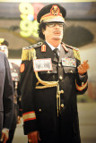 Colonel Qadhafi in military uniform, Gallery of the Revolution