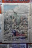 Au cours d'un combat sous les murs de Tripoli un soldat italien s'empare d'un étendard vert du prophète