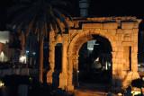 Arch of Marcus Aurelius at night, Tripoli Medina