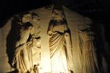 Roman relief sculpture in the park around the Arch of Marcus Aurelius