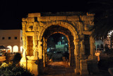 The Arch of Marcus Aurelius sits quite a bit lower than the current street level of the Tripoli Medina