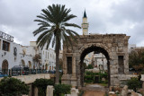 Arch of Marcus Aurelius on a cloudy day, Tripoli