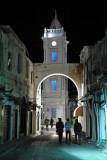 19th C. Ottoman Clock Tower at night, Tripoli