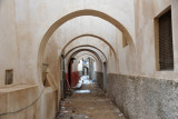 Alley in the Tripoli Medina crossed by heavy arches