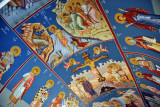 Painted interior of the Greek Orthodox Church of St. George
