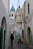 Alley leading to the Sufi Mosque near the Souq Erbaa Elgdim, Tripoli Medina