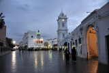Clock Tower Square at dusk on a cloudy and wet evening, Tripoli Medina