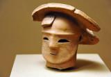 Haniwa in the form of woman's head, Kofun period, 300-552