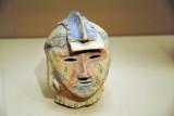Haniwa in the form of a warrior's head, Kofun period, 300-552
